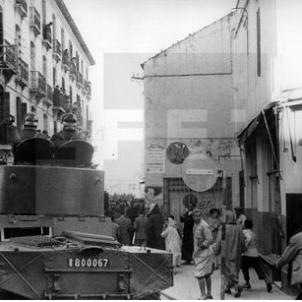 Retirada de l'exèrcit franquista espanyol de Tànger (1945). Font Pinterest