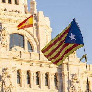 Manifestacio Madrid 16-M Independencia Llibertat Estelada Bandera espanyola - Sergi Alcàzar