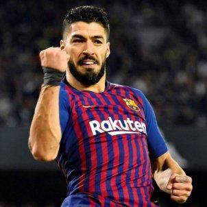 Suarez Betis Barça celebracio