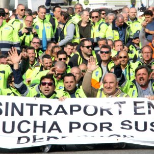 protesta transportistes port Barcelona - ACN