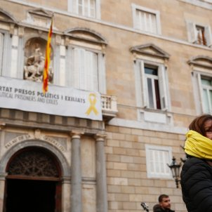 Manifestació suport president Quim Torra sant jaume llaç groc - sergi alcazar