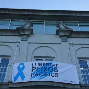 pancarta presos polítics llaç groc blau port de la selva El Nacional
