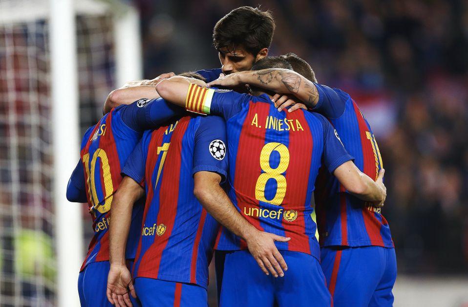 Barça celebracio gol Gladbach EFE