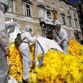 abocada llaços grocs escamots unionistes generalitat - efe