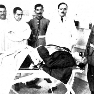 Cadàver de Bravo Portillo. Font Ajuntament de Barcelona