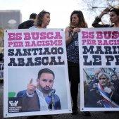 Capçalera manifestació anti Vox Carles Palacio