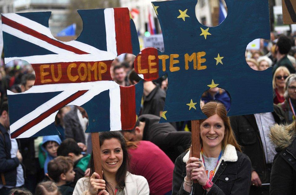 Manifestació per un segon referèndum Brexit Londres 20190323