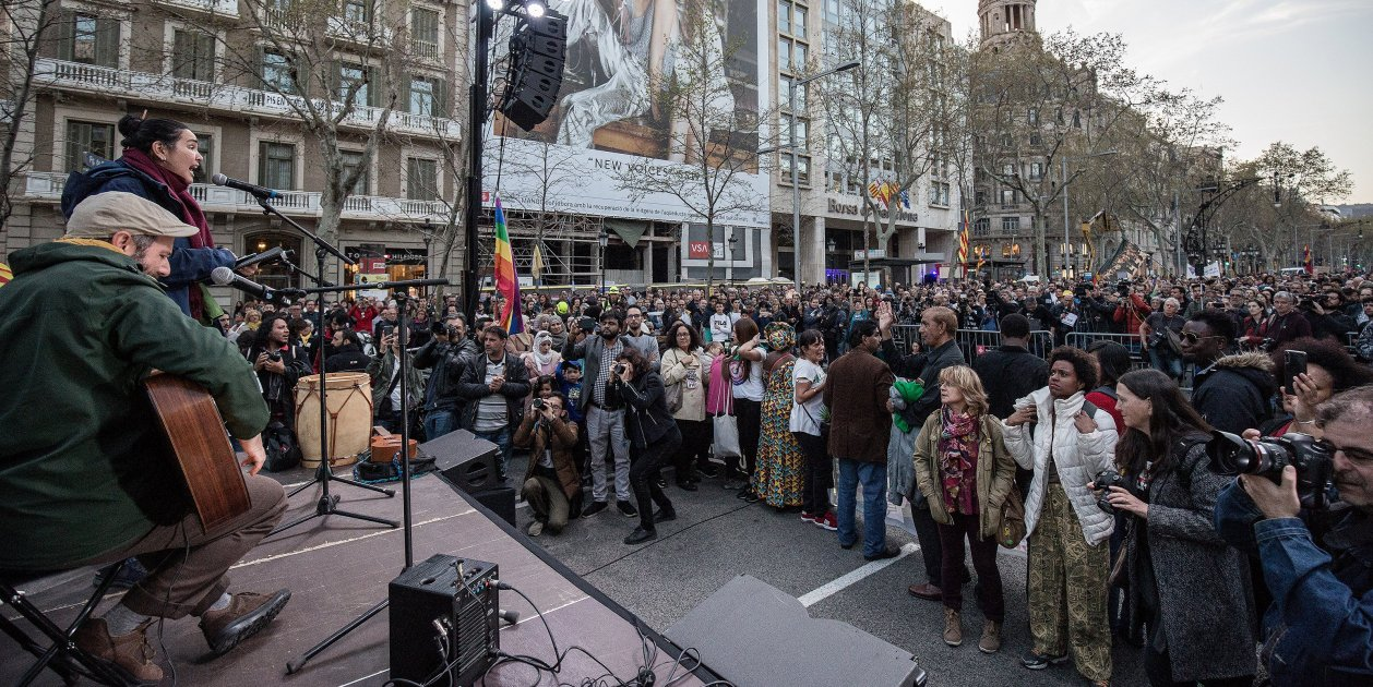 Manifestacio Anti Vox Antiracista Antifeixista Barcelona - Bona Qualitat- Carles Palacio