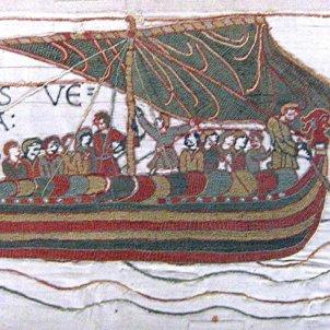 Test 51. Els vikings a Catalunya. Fragment del Tapis de Bayeux. Font Museu de Bayeux (Normandia França)
