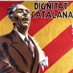 Reobre el Parlament de Catalunya suspès per la República espanyola. Cartell electoral 1936. Font Universitat de Barcelona
