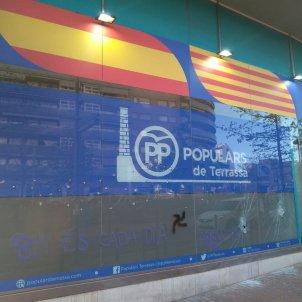Seu PP Terrassa pintades Twitter @PPCatalunya