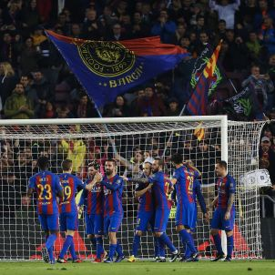 Barça celebració Gladbach Champions EFE