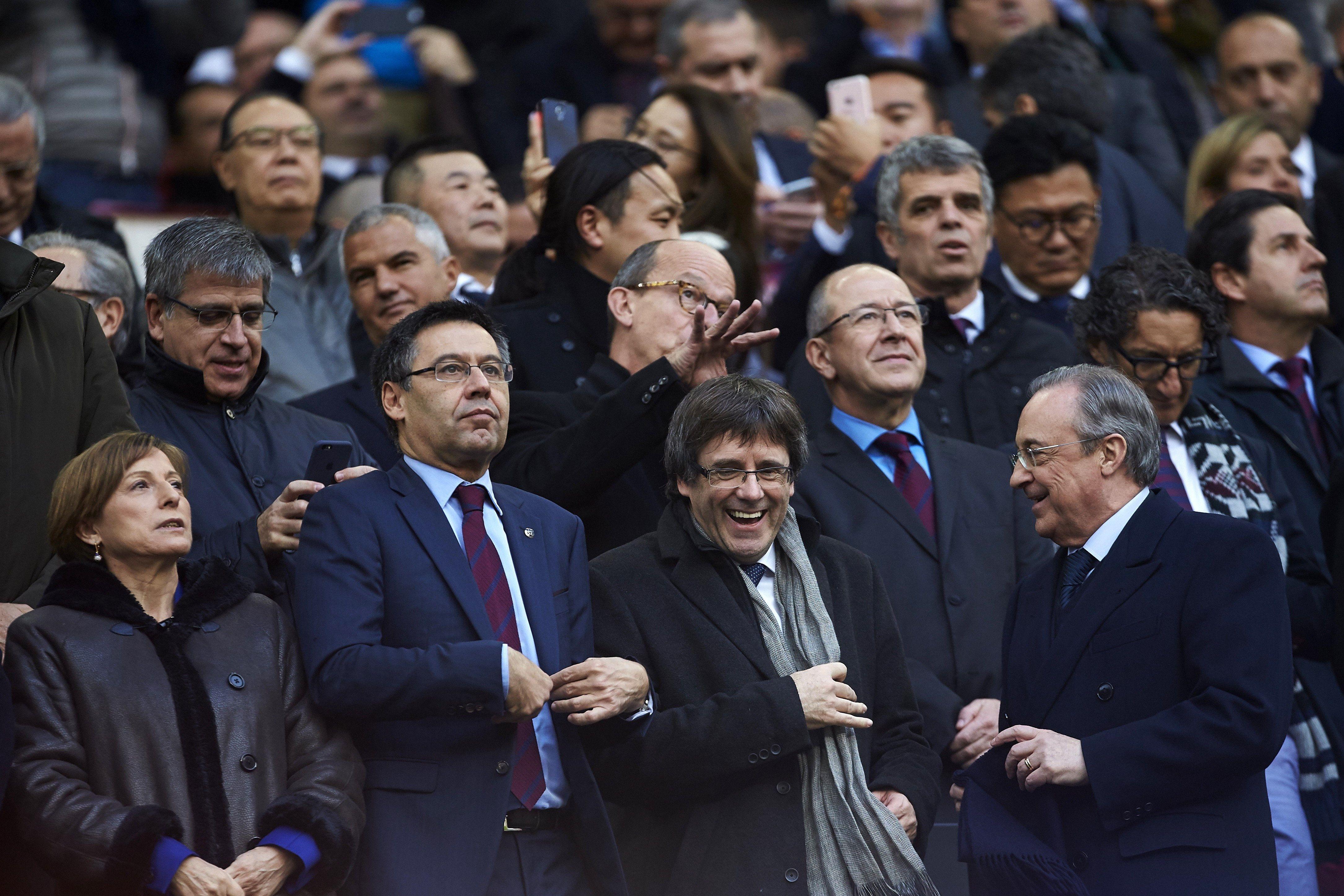 Puigdemont Bartomeu Florentino Perez Forcadell Camp Nou EFE