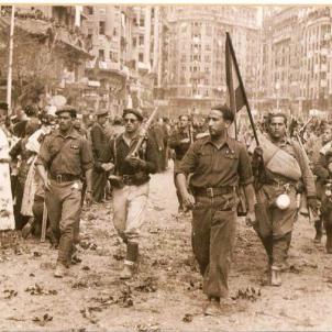 Les tropes franquistes completen l'ocupació del País Valencià. Ocupació franquista de València. Font Blog Memoria Repressió Franquista