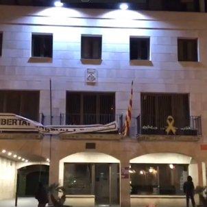 Pancarta Llibertat presos Calella