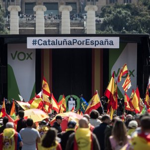 vox espanyolisme ultra plaça espanya mariacristina cataluña con españa santiago abascal -bona qualitat- Carles Palacio