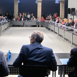 Taula de partits i entitats contra el racisme Torra el Homrani Amorós - Europa Press