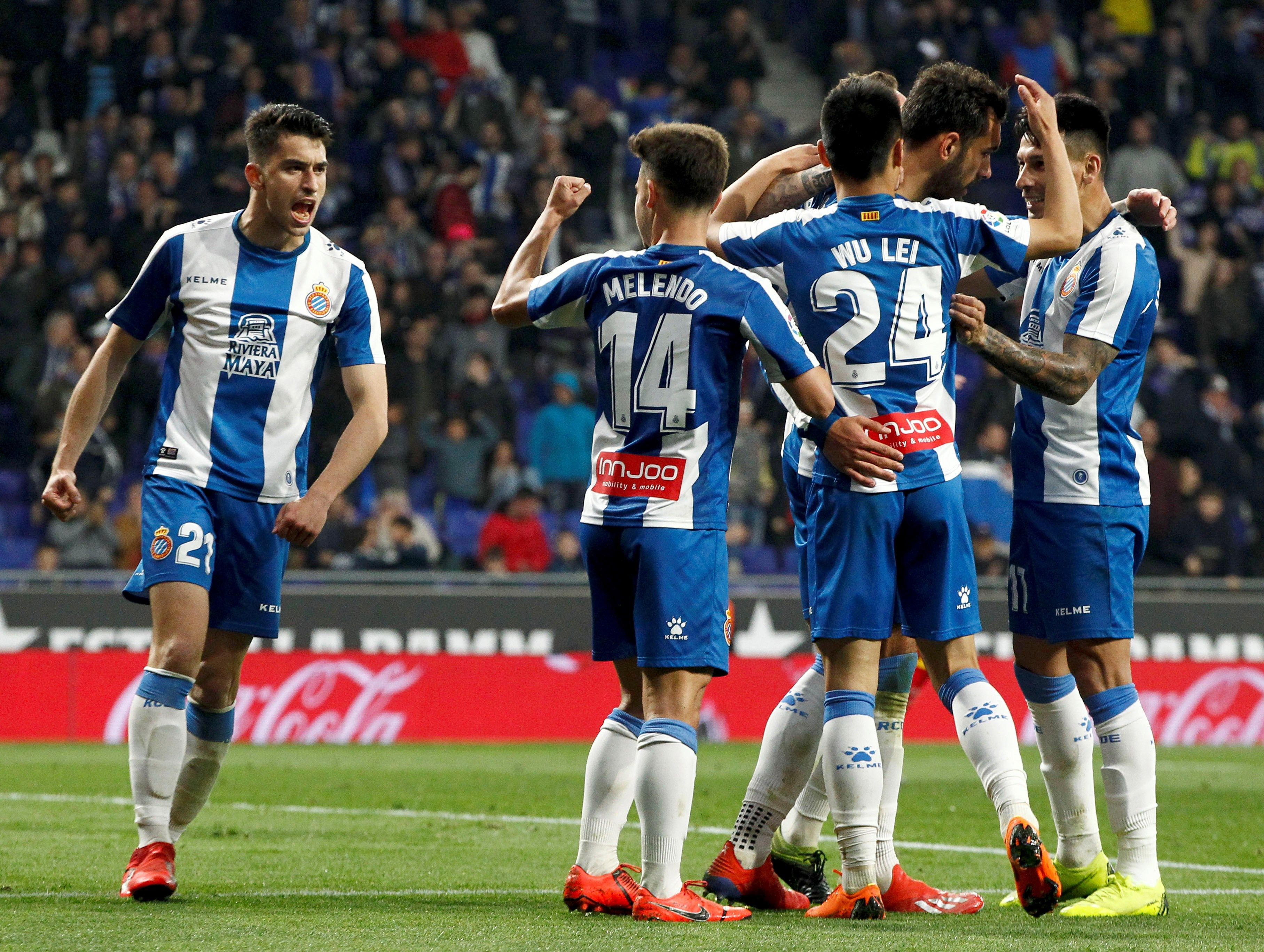 Borja Iglesias Wu Lei Melendo Marc Roca Espanyol Getafe EFE