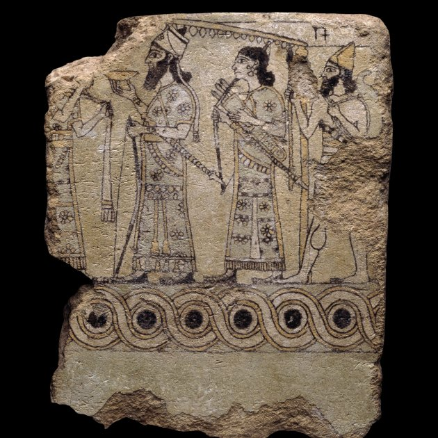 i rajola assiria i palau nord oest nimrud iraq 845 850 ac rajola d argila vidriada c the trustees of the british mu