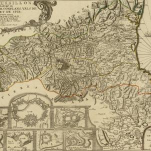 Mapa francès del Rosselló (1706). Font Cartoteca de Catalunya