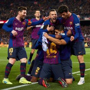 Suarez Messi Jordi Alba Malcom Alena Barca Atletic EFE