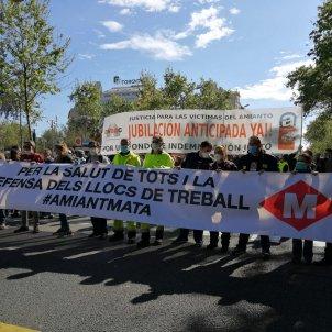 manifestacio vaga metro barcelona el nacional anna solé sans