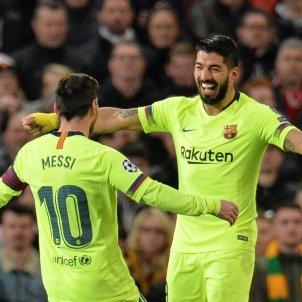 Suárez Messi Manchester United Champions EFE