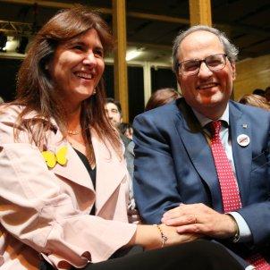 President Quim Torra Laura Borras campanya 28-a - ACN