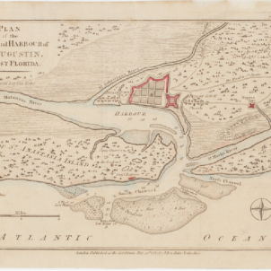 Plànol britànic de Saint Augustine (1783). Font Boston Public Library