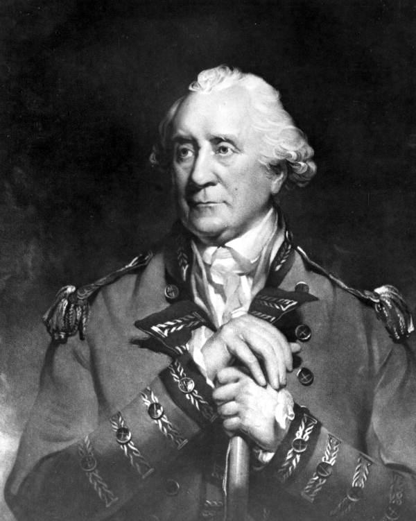 General Patrick Tonyn, governador britànic de la Florida, que va alliberar els minorquians. Font Viquipedia