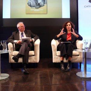 Enric Juliana, Josep Borrell, Irene Lozano, Luis Francisco Martínez Montes 20190410 (Efe)
