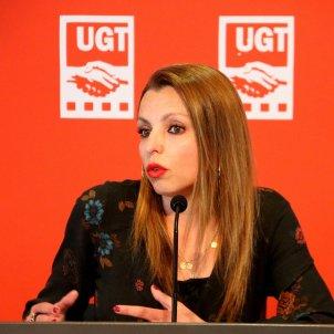 Pla de la secretària de Política Sindical de la UGT de Catalunya, Núria Gilgado acn