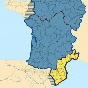 Neix Lluís, l'emperador franc que va consolidar els primers comtats catalans. Mapa de l'imperi franc. Font Viquipedia