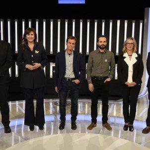 Jordi Roca (PP) Laura Borràs (JxCat) Jaume Asens (ECP) Gerard Gómez (ERC) Mercè Perea (PSC) Toni Roldán (PP) debat candidats tve - europa press