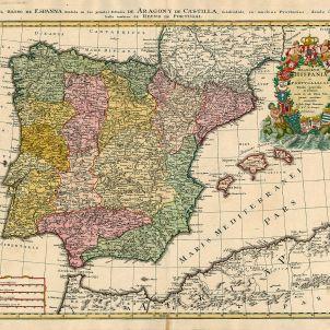 Mapa de la península. Any 1728