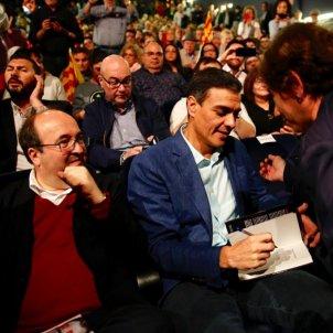 ELNACIONAL Pedro Sánchez Miquel Iceta acte Badalona - Sergi Alcàzar