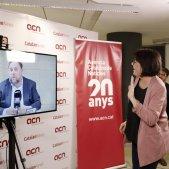 Diana Riba, Oriol JUnqueras roda de premsa Soto del Real EFE