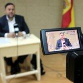 Oriol Junqueras roda de premsa Soto del Real ACN