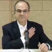 """L'emotiu """"Visca Catalunya lliure"""" de Turull des de la presó"""