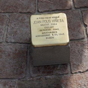 Llambordes stolpersteine Memorial Democràtic