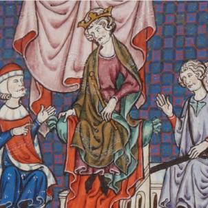 Jaume II conquereix Alacant als castellans. Representació de Jaume II. Font Bibliothèque Nationale de France