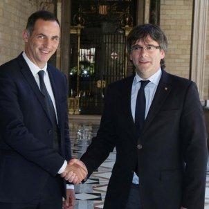 President Cors Gilles Simeoni Puigdemont   @Gilles Simeoni