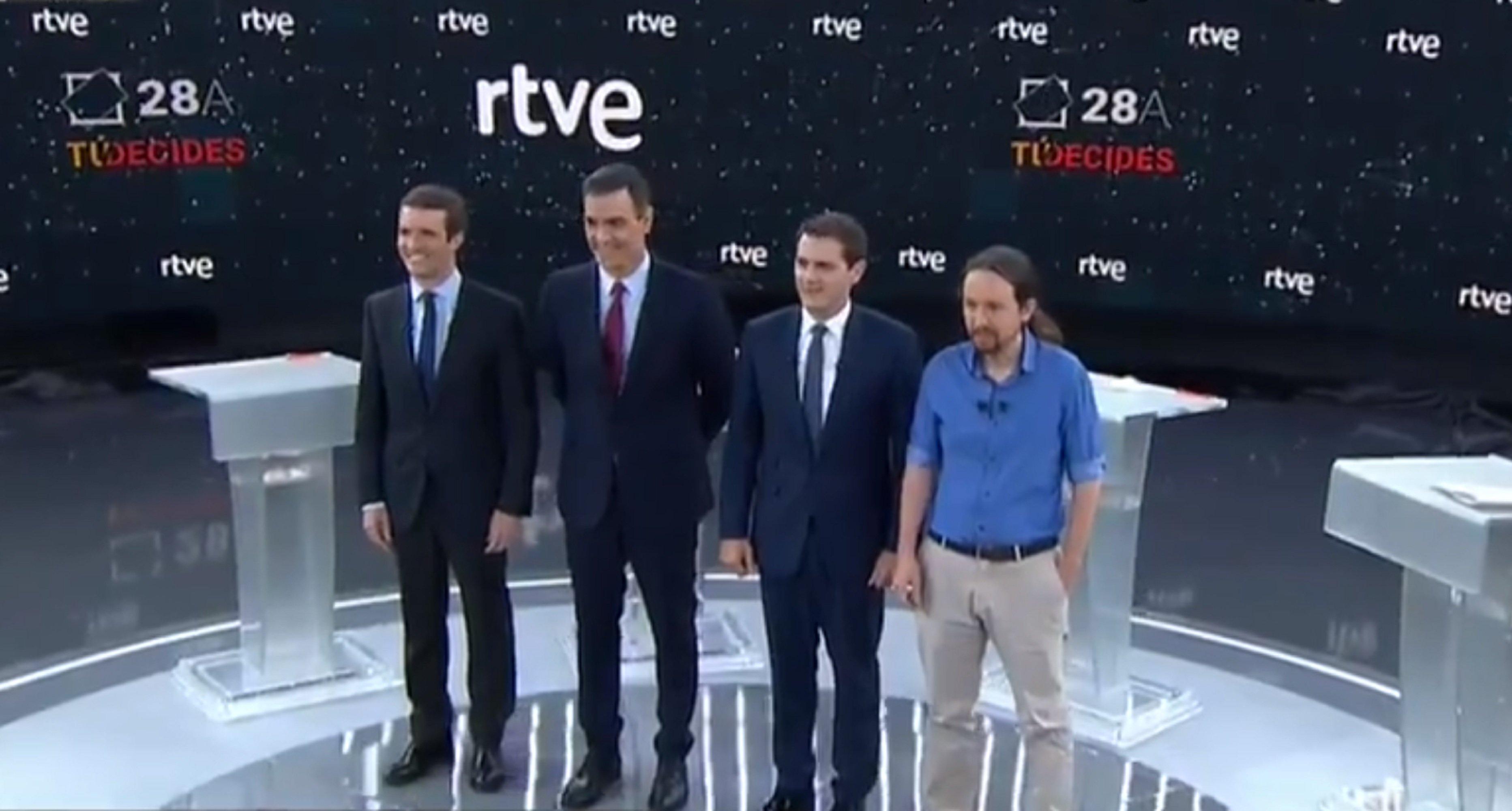 Foto candidats debat RTVE