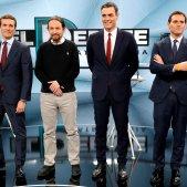 Debat atresmedia Rivera, Casado, Sanchez Iglesias - Efe