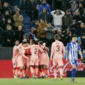 El Barça acarona la Lliga com a regal de Sant Jordi (0-2)