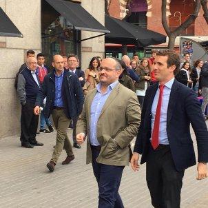 Pablo Casado Alejandro Rodriguiez PP acte Barcelona eleccions 28-a - Adrià Rovira