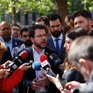 Concentracio Ciutat Justicia processament jutjat 13 Pere Aragonès ERC - Sergi Alcàzar