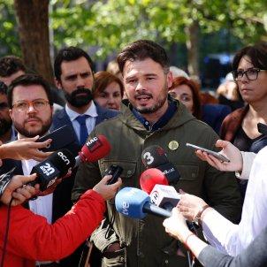 Concentracio Ciutat Justicia processament jutjat 13 Gabriel Rufián ERC - Sergi Alcàzar