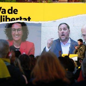 Oriol Junqueras Raül Romeva Marta Rovira campanya Badalona - Sergi Alcàzar