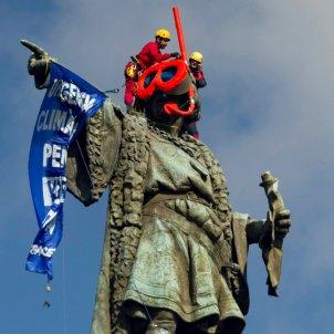 monument Colom ulleres Greenpeace canvi climàtic Efe